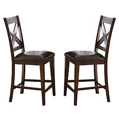 Branton Home Clapton Counter Chair 2-piece Set