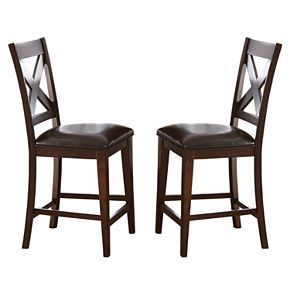 Branton Home Clapton Counter Chair 2-piece Set