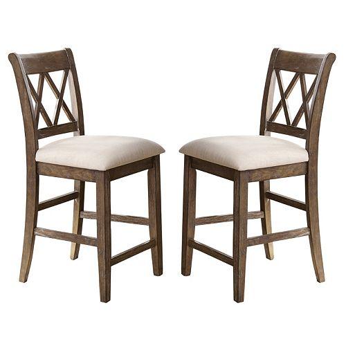 Branton Home Franco Counter Chair 2-piece Set