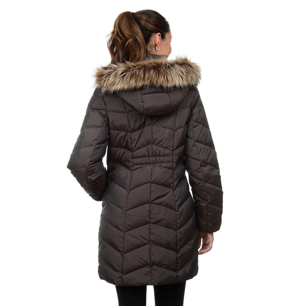 Women's Fleet Street Hooded Chevron Puffer Down Coat