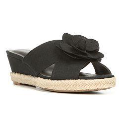 LifeStride Omega Women's Espadrille Wedge Sandals