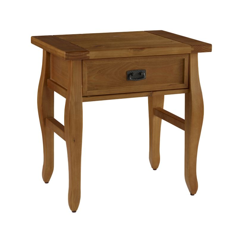 Linon Santa Fe End Table, Brown