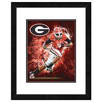 Georgia Bulldogs Action Shot Framed 11