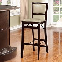 Linon Triena Padded Back Folding Bar Stool