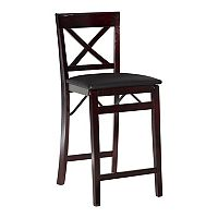 Linon Triena X-Back Folding Counter Stool