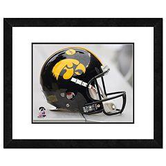 Iowa Hawkeyes Helmet Framed 11' x 14' Photo