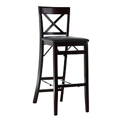 Linon Triena X-Back Folding Bar Stool