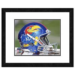 Kansas Jayhawks Helmet Framed 11' x 14' Photo