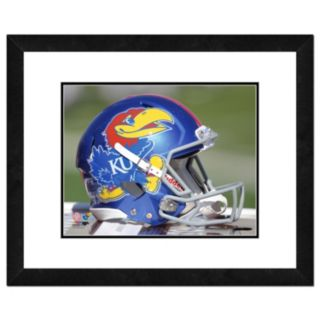 "Kansas Jayhawks Helmet Framed 11"" x 14"" Photo"