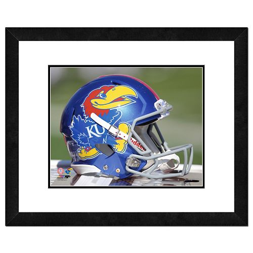 "Kansas Jayhawks Helmet Framed 11"" x 14"" Photo"