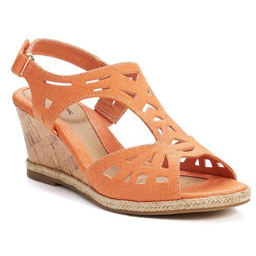 Croft & Barrow® Women's Espadrille Wedge Sandals