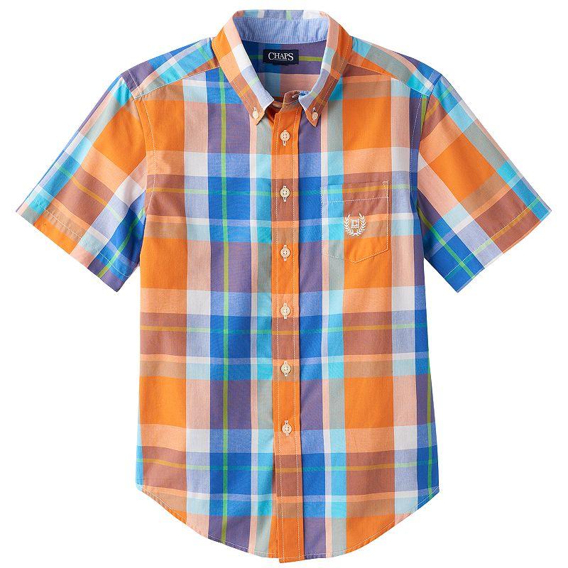Boys 8-20 Chaps Easy-Care Plaid Button-Down Shirt