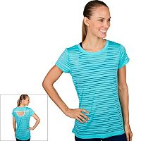 Women's Jockey Sport Mesh Stripe Crewneck Workout Tee