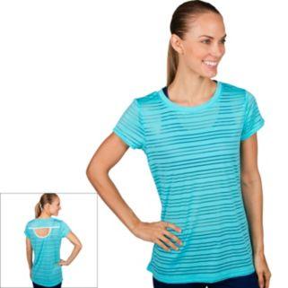 Women's Jockey Sport Mesh Stripe Crewneck Workout Tee