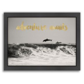 "Americanflat ""Adventure Awaits"" Framed Wall art by Amy Brinkman"