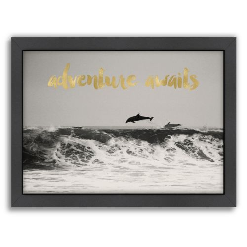 Americanflat Adventure Awaits Framed Wall art by Amy Brinkman