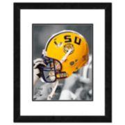 """LSU Tigers Helmet Framed 11"""" x 14"""" Photo"""