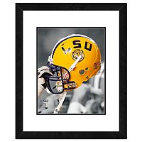 LSU Tigers Helmet Framed 11