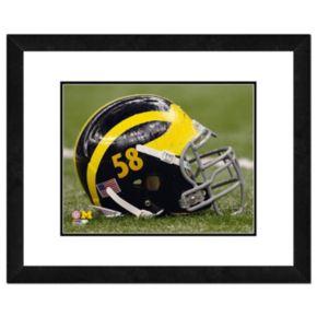 "Michigan Wolverines Helmet Framed 11"" x 14"" Photo"