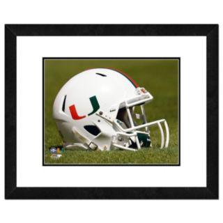 "Miami Hurricanes Helmet Framed 11"" x 14"" Photo"