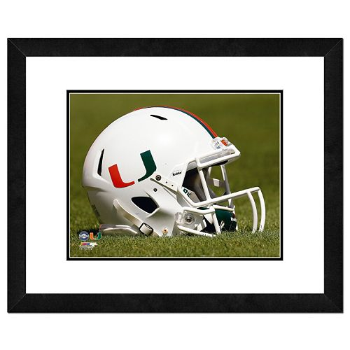 Miami Hurricanes Helmet Framed 11