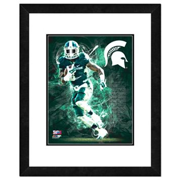 Michigan State Spartans Action Shot Framed 11