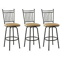 Linon Metal Bar Stool 3 pc Set