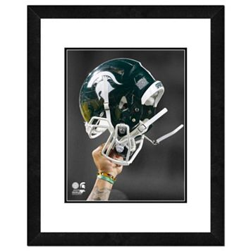 Michigan State Spartans Helmet Framed 11