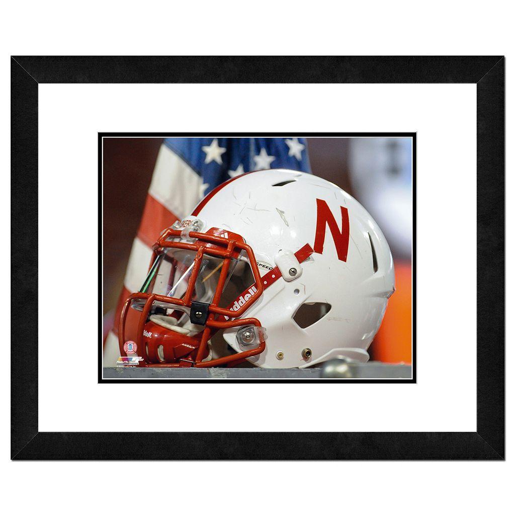 Nebraska Cornhuskers Helmet Framed 11