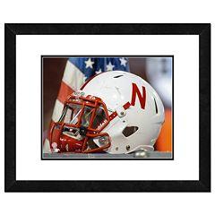 Nebraska Cornhuskers Helmet Framed 11' x 14' Photo