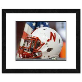 """Nebraska Cornhuskers Helmet Framed 11"""" x 14"""" Photo"""