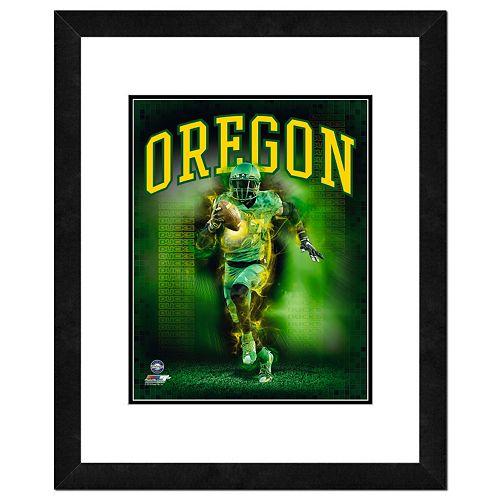 Oregon Ducks Action Shot Framed 11
