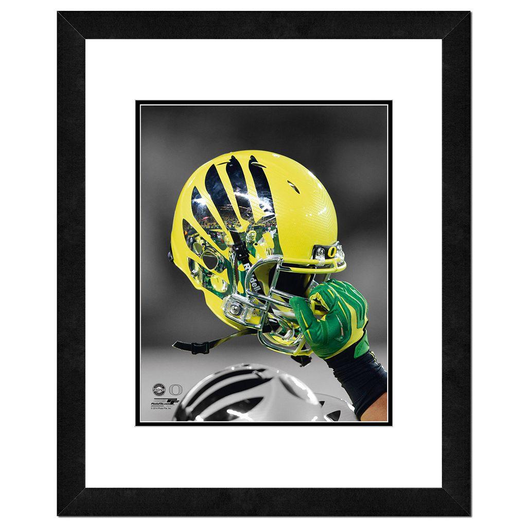 Oregon Ducks Helmet Framed 11