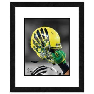 """Oregon Ducks Helmet Framed 11"""" x 14"""" Photo"""