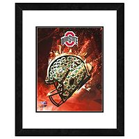 Ohio State Buckeyes Helmet Framed 11