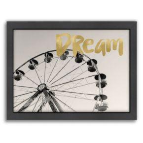 "Americanflat ""Dream"" Framed Wall Art by Amy Brinkman"