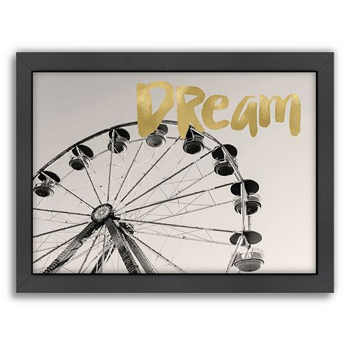 "Americanflat ""Dream"" Framed Wall Art by Amy Brinkman"