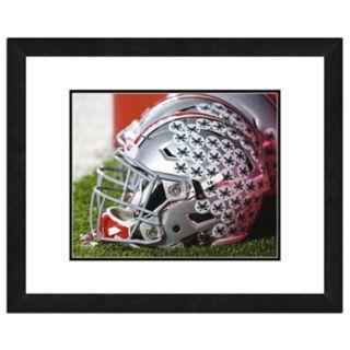 """Ohio State Buckeyes Helmet Framed 11"""" x 14"""" Photo"""