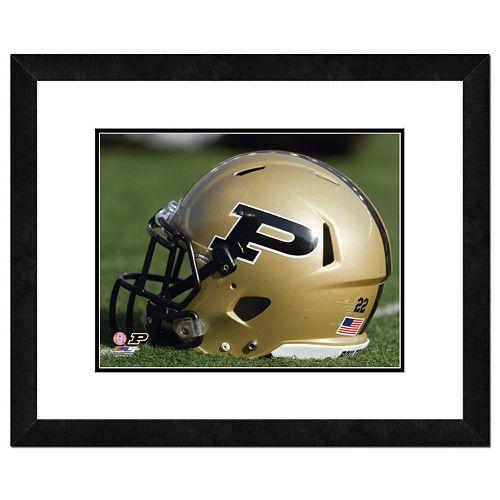 """Purdue Boilermakers Helmet Framed 11"""" x 14"""" Photo"""