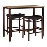 Linon Betty Pub Bar Table 3-piece Set