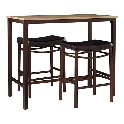 Linon Betty Pub Bar Table 3-piece Set