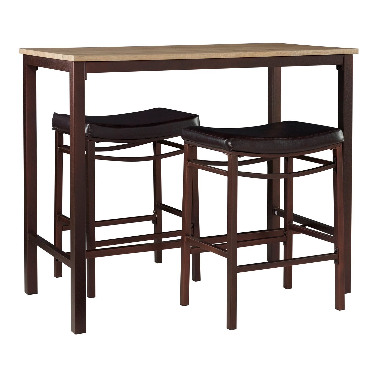 Linon Betty Pub Bar Table 3 Piece Set