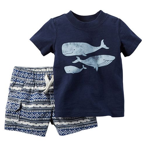 Baby Boy Carter's Whale Tee & Shorts Set