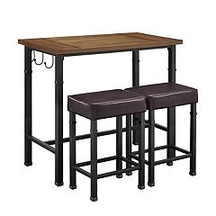 Linon Austin Pub Bar Table 3 pc Set