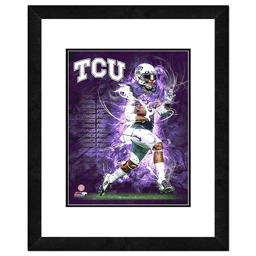 TCU Horned Frogs Action Shot Framed 11