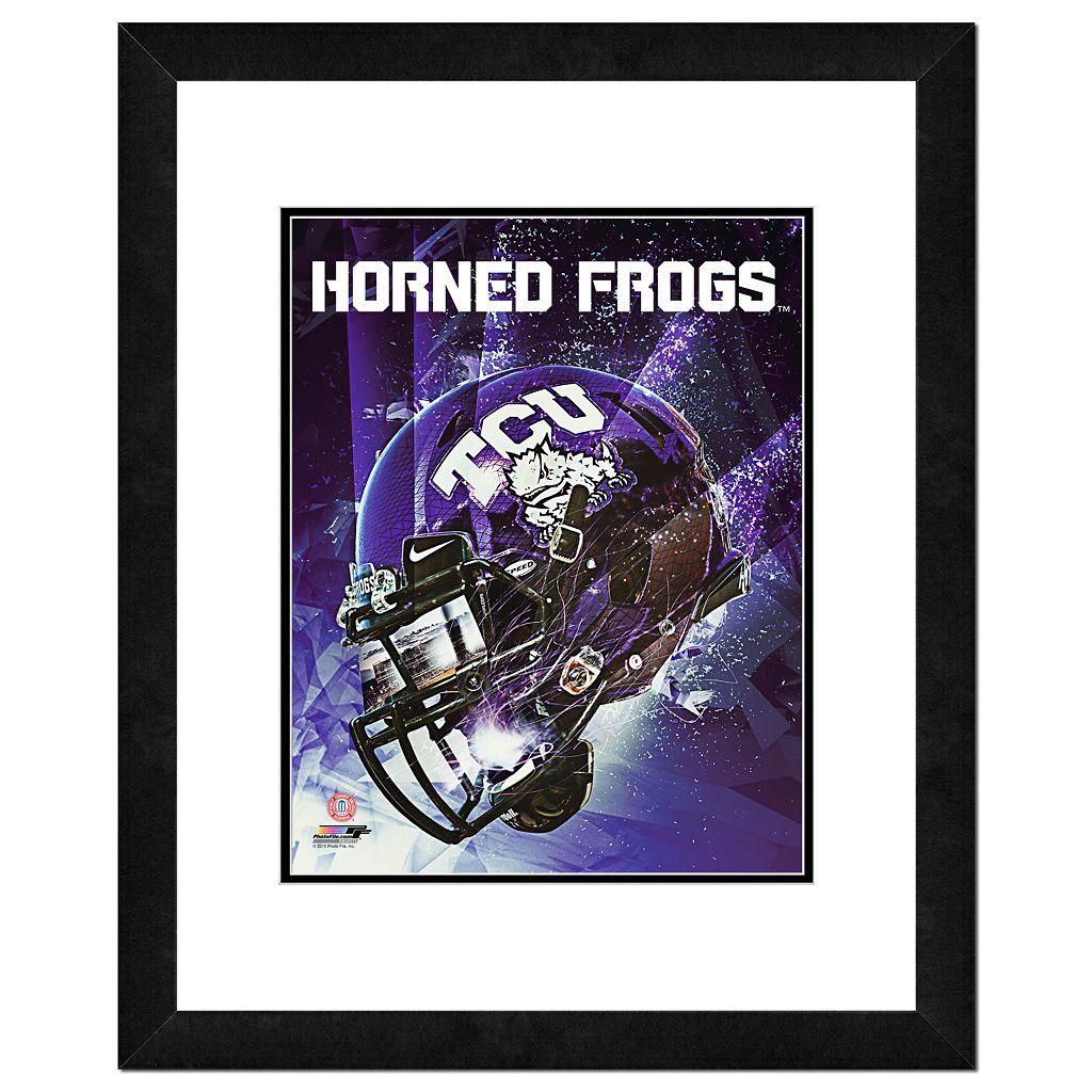 TCU Horned Frogs Helmet Framed 11