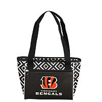 Logo Brand Cincinnati Bengals 16-Can Diamond Cooler Tote