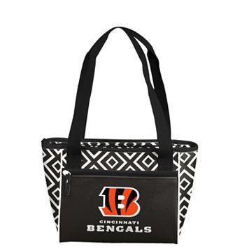 Logo Brand Cincinnati Bengals 16-Can Diamond Cooler Tote