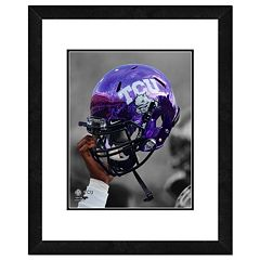 TCU Horned Frogs Helmet Framed 11' x 14' Photo
