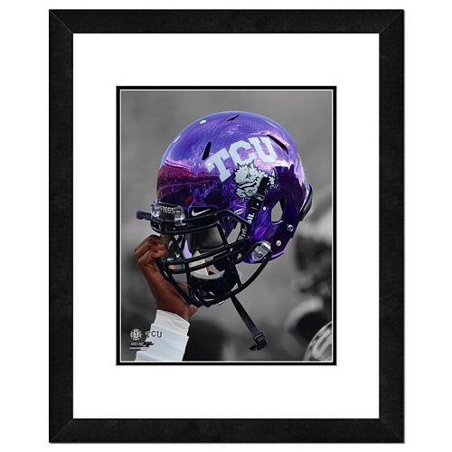 """TCU Horned Frogs Helmet Framed 11"""" x 14"""" Photo"""